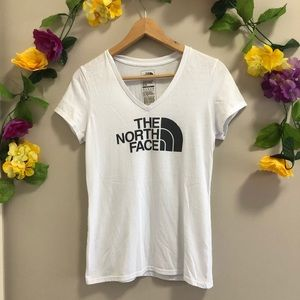 The North Face White Slim Fit Tee / T-Shirt